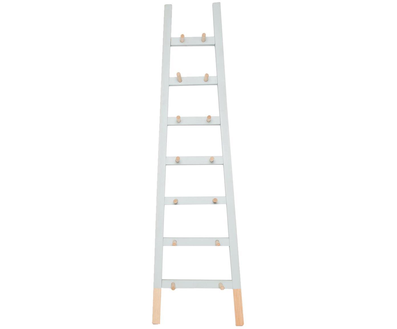 Estantería escalera Agun, Madera de pino recubierta, Gris, An 46 x Al 170 cm
