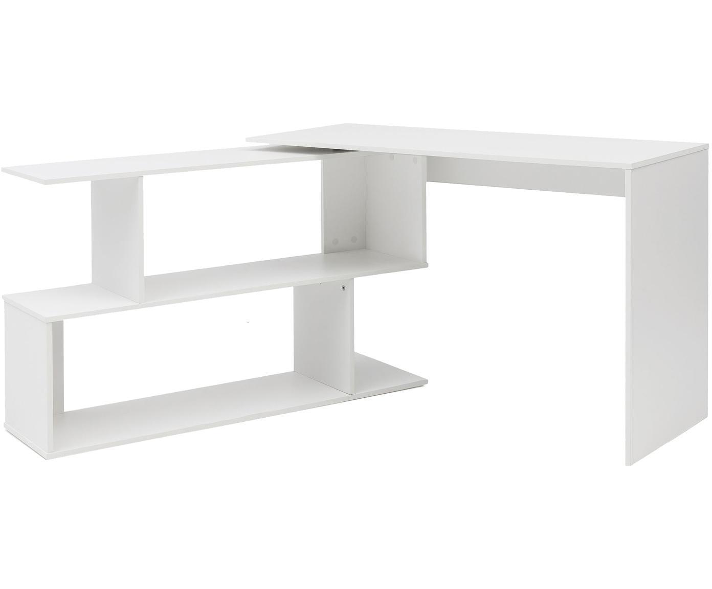 Schreibtisch Lemina, Spanplatte, Weiß, matt, B 119 x T 49 cm