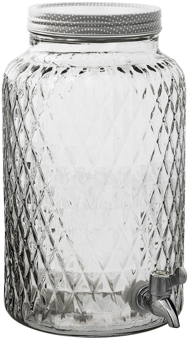 Dispensador de bebida Selma, Recipiente: vidrio, Transparente, Ø 18 x Al 30 cm