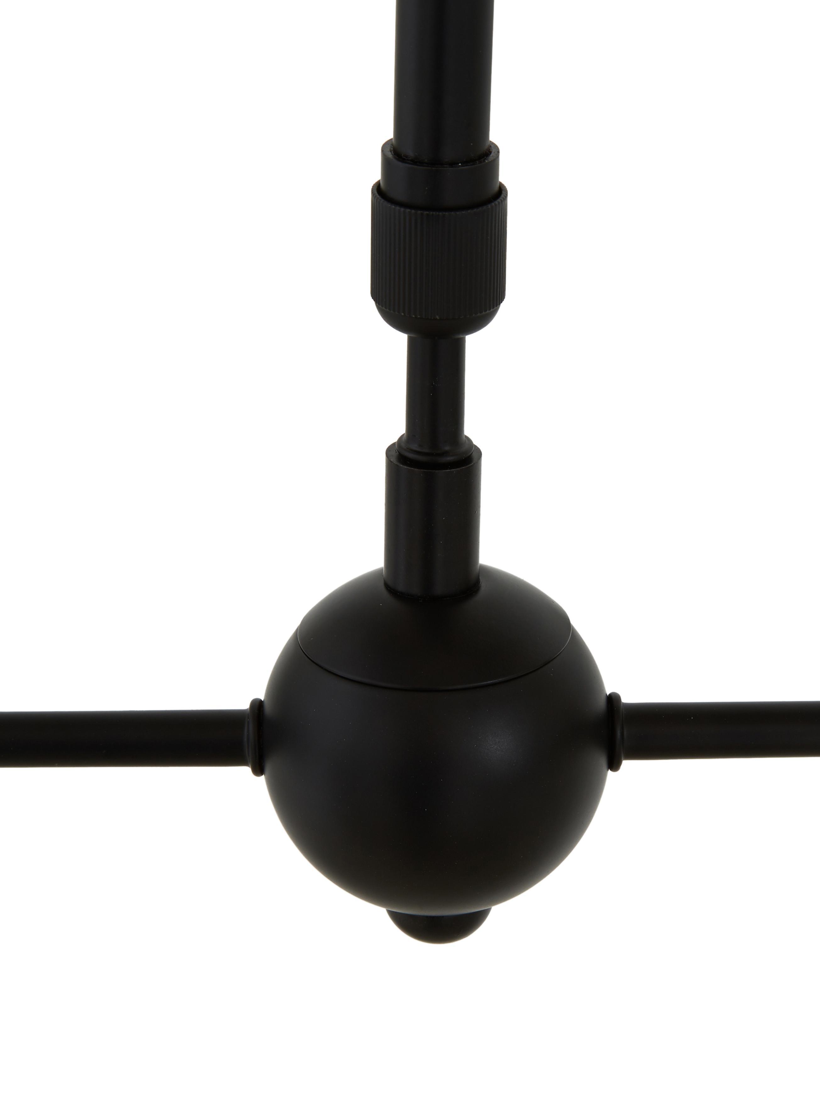Suspension en métal noir, grande taille Aurelia, Noir, gris