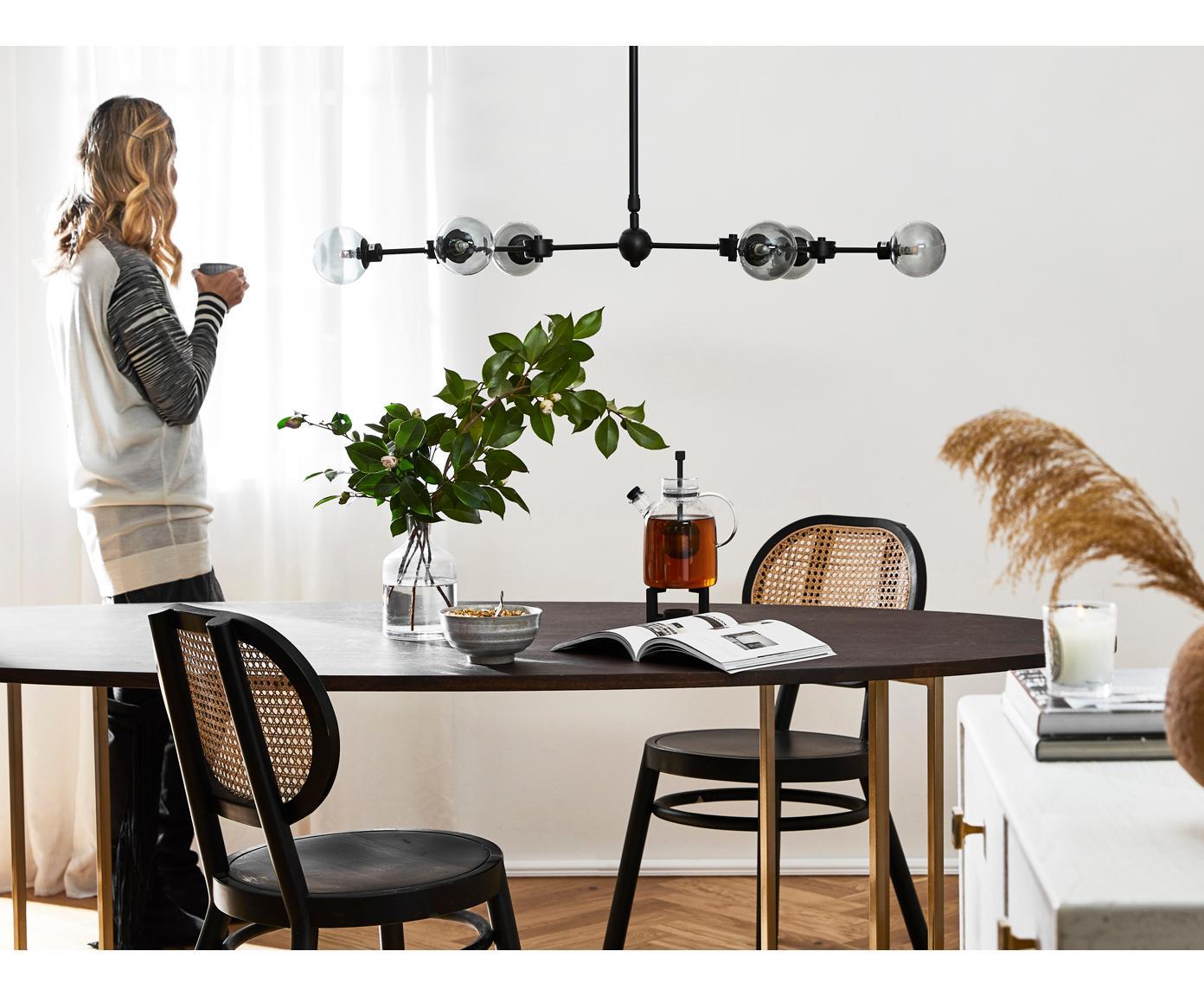 Lampa wisząca XL Aurelia, Czarny, szary, S 110 x W 68-118 cm