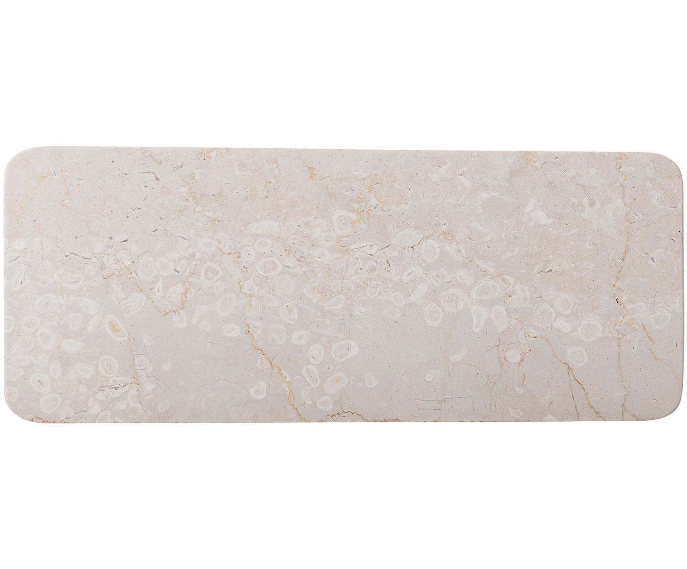 Marmor Servierplatte Maya, Marmor, Beige, L 38 x H 3 cm