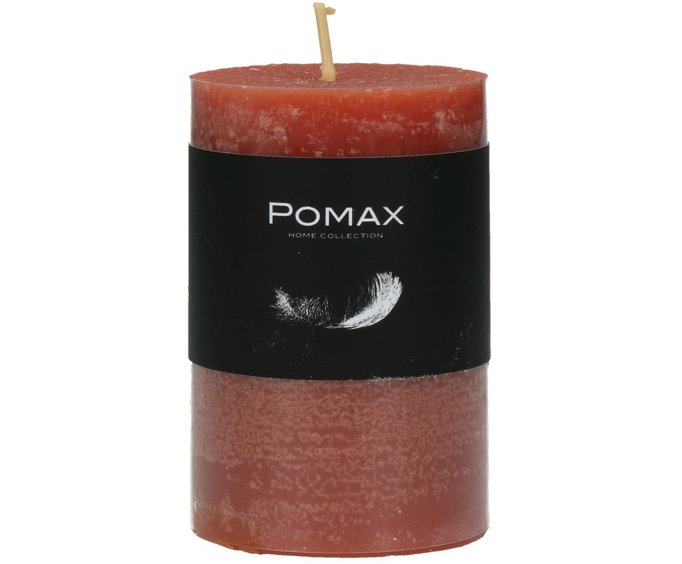 Stumpenkerze Arda, 80% Paraffinwachs, 20% Palmwachs, Terrakotta, Ø 5 x H 8 cm