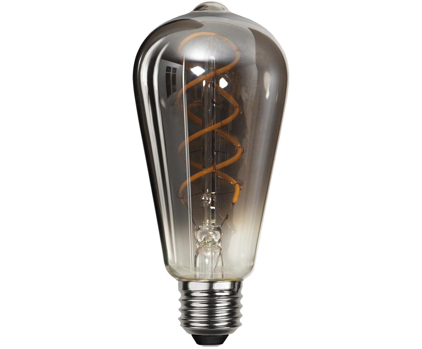 Bombilla LED Blacked (E27/4W), Ampolla: vidrio, Casquillo: níquel, Negro, Ø 6 x Al 14 cm