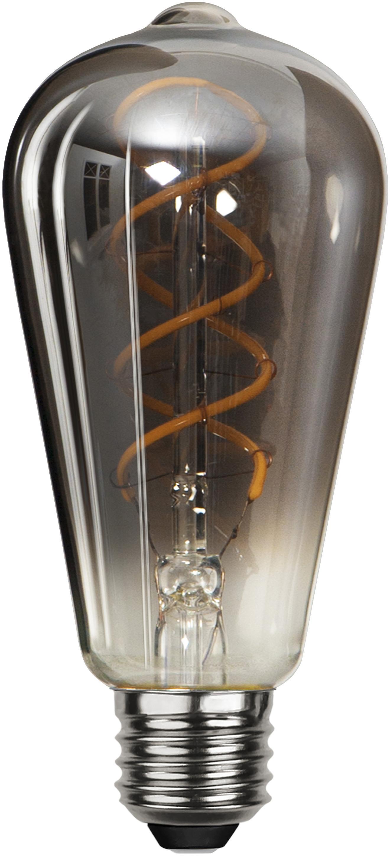 LED lamp Blacked (E27 / 4W) , Peertje: glas, Fitting: nikkel, Zwart, Ø 6 x H 14 cm