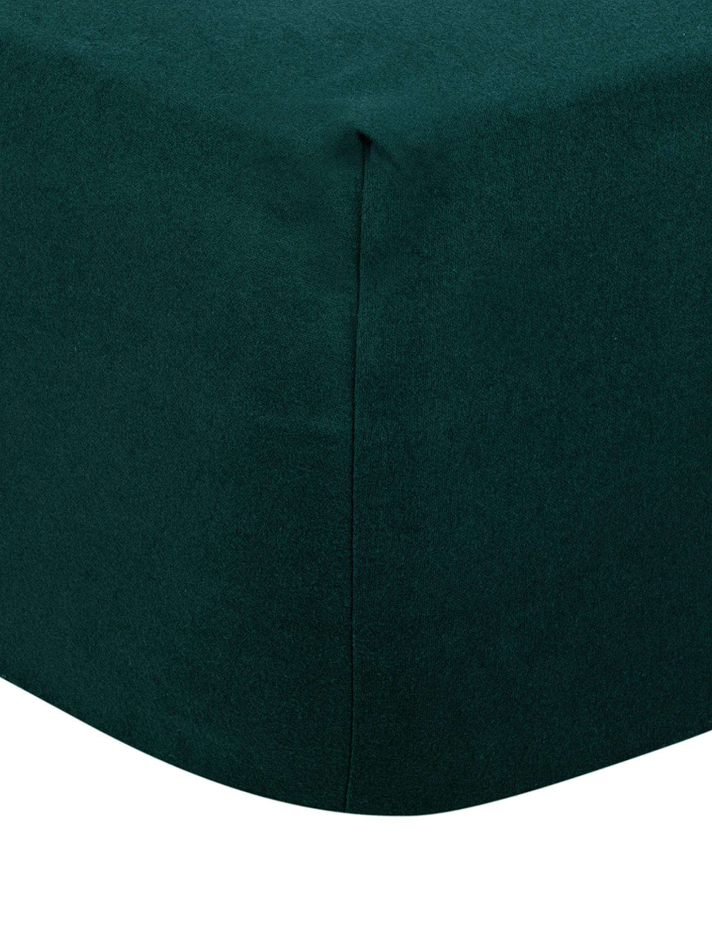 Prześcieradło z gumką z flaneli Biba, Zielony, S 160 x D 200 cm