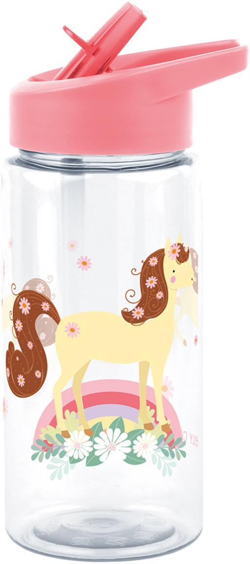 Trinkflasche Horse, Kunststoff, Rosa, Ø 8 x H 16 cm