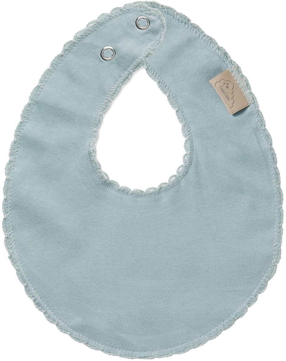 Bavaglino in cotone organico Protect, Cotone organico, certificato GOTS, Blu, Larg. 20 x Lung. 23 cm