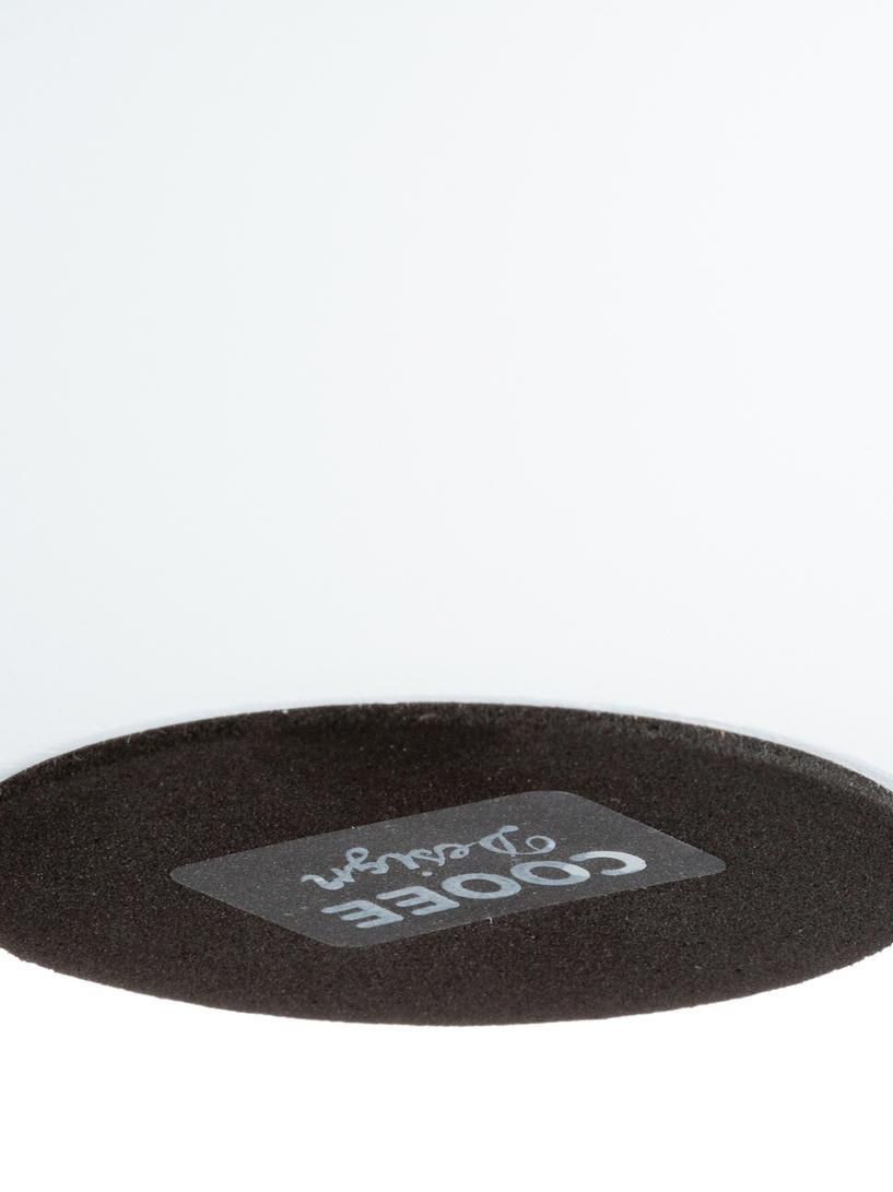 Handgefertigter Kerzenhalter Ball, Holz, Weiß, matt, Ø 10 x H 9 cm