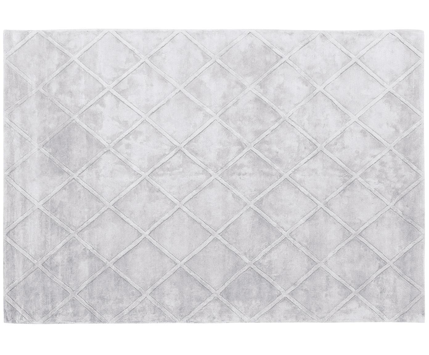 Ręcznie tuftowany dywan z wiskozy Shiny, Jasny srebrnoszary, S 160 x D 230 cm (Rozmiar M)