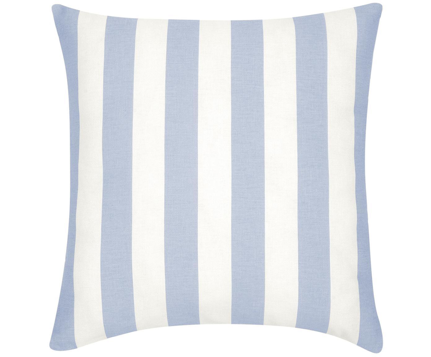 Federa arredo  Timon, 100% cotone, Azzurro, bianco, Larg. 45 x Lung. 45 cm