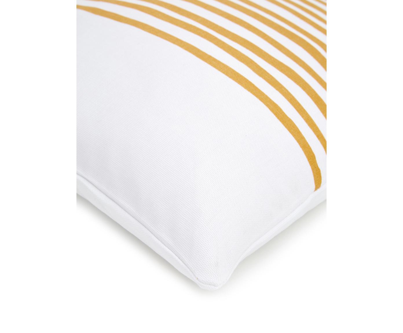 Poszewka na poduszkę Corey, Bawełna, Żółty, biały, S 40 x D 40 cm