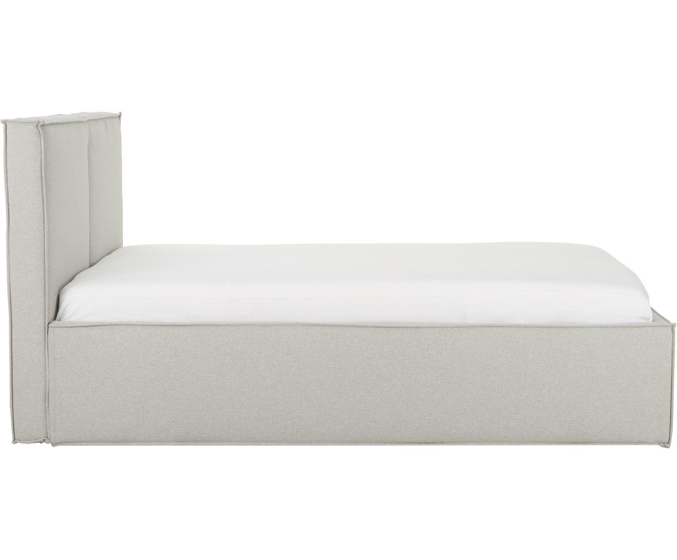 Letto imbottito con contenitore Dream, Rivestimento: Poliestere (tessuto strut, Malva, 180 x 200 cm
