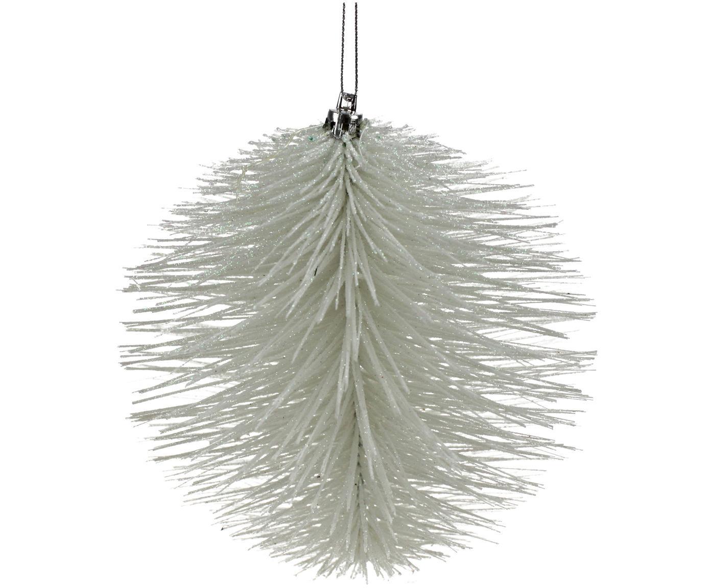 Deko-Anhänger Wipers, 2 Stück, Kunststoff, Metalldraht, Weiss, Ø 15 cm