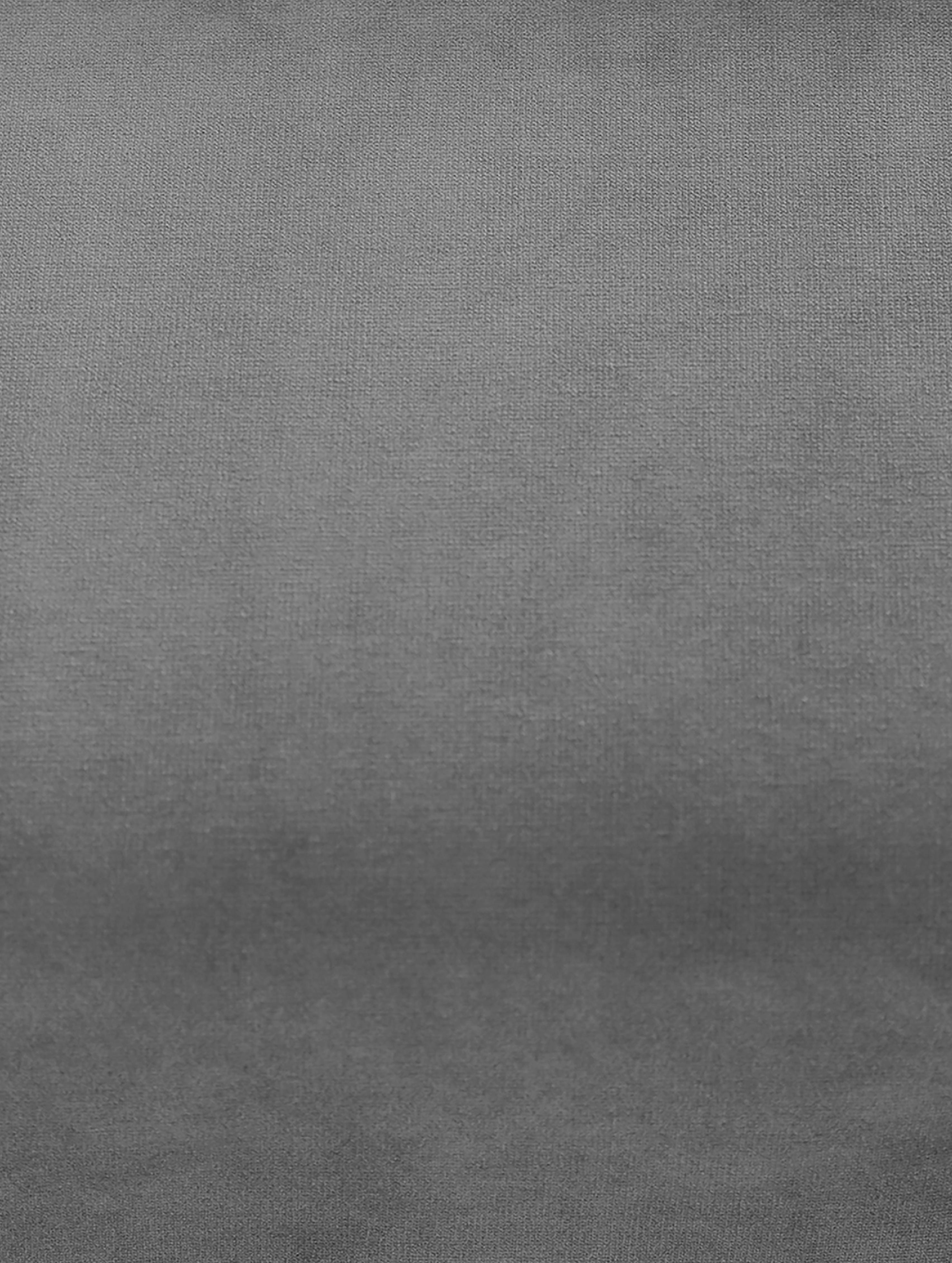 Poltrona in velluto Moby, Rivestimento: velluto (rivestimento in , Struttura: legno di pino massiccio, Piedini: metallo verniciato a polv, Grigio, Larg. 90 x Prof. 90 cm