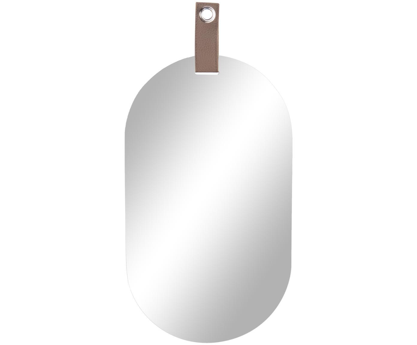 Owalne lustro ścienne Perky, Szkło lustrzane, S 22 x W 39 cm