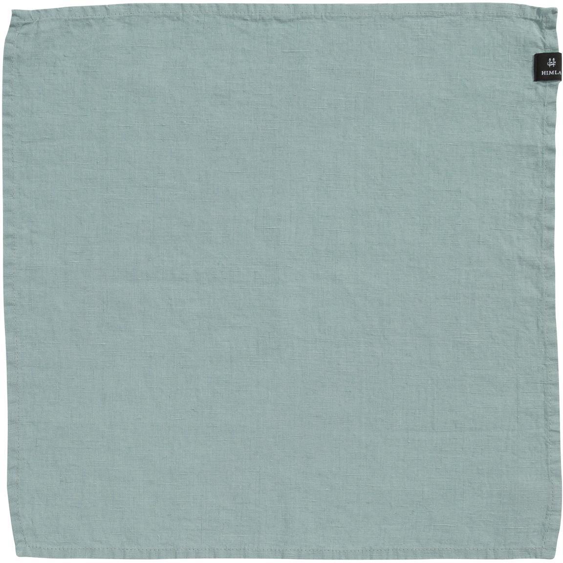 Servilletas de lino Sunshine, 4uds., Lino, Verde azulado claro, L 45 x An 45 cm