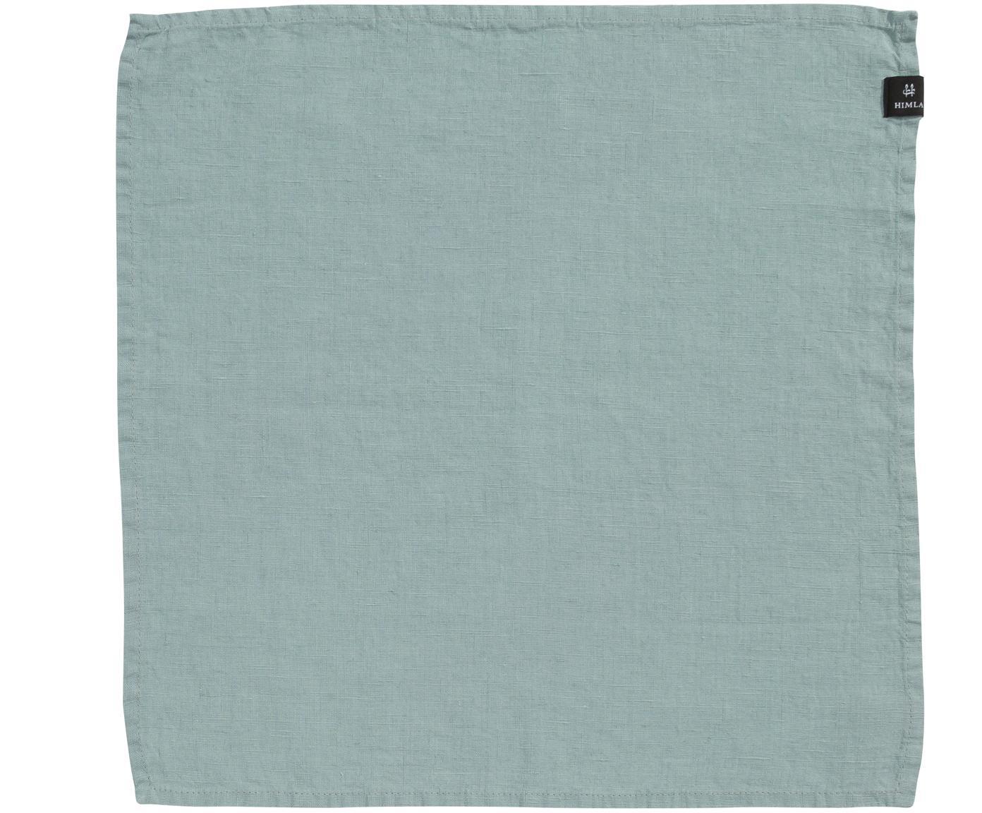 Linnen servetten Sunshine, 4 stuks, Linnen, Licht blauwgroen, 45 x 45 cm