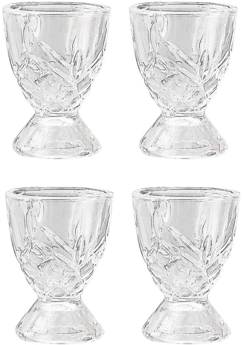 Eierdopje Harvey, 4 stuks, Glas, Transparant, Ø 5 x H 7 cm