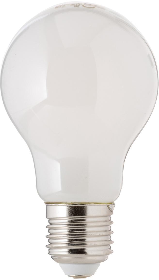 Dimmbares LED Leuchtmittel Bafa (E27/8W), Leuchtmittelschirm: Kunststoff, Leuchtmittelfassung: Aluminium, Weiß, Ø 8 x H 10 cm