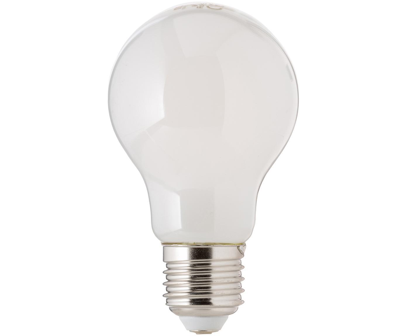 Bombilla LED regulable Bafa (E27/8W), Ampolla: plástico, Casquillo: aluminio, Blanco, Ø 8 x Al 10 cm