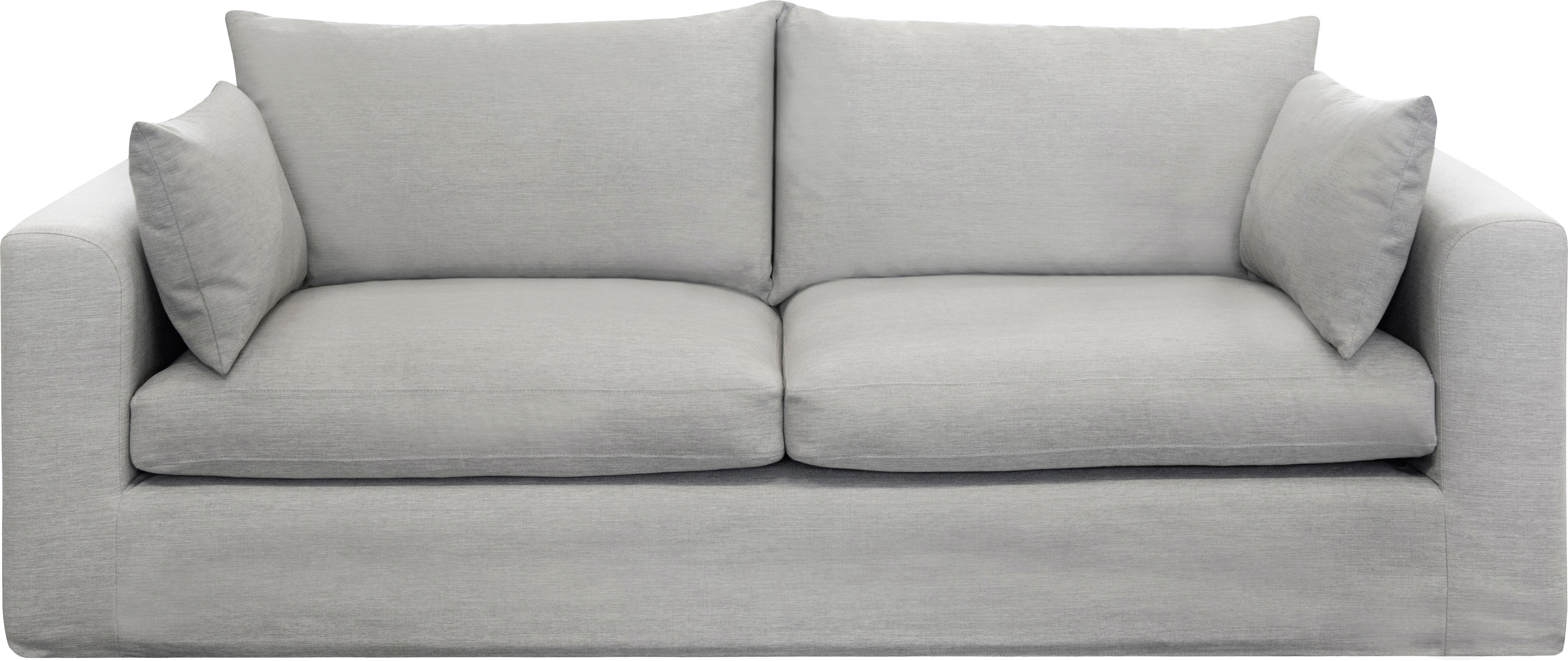 Sofa Zach (3-Sitzer), Bezug: 100% Polypropylen, Webstoff Taupe, B 231 x T 90 cm