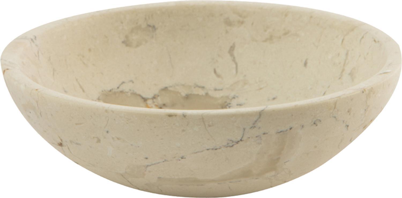 Jabonera de mármol Luxor, Mármol, Beige, Ø 12 x Al 4 cm