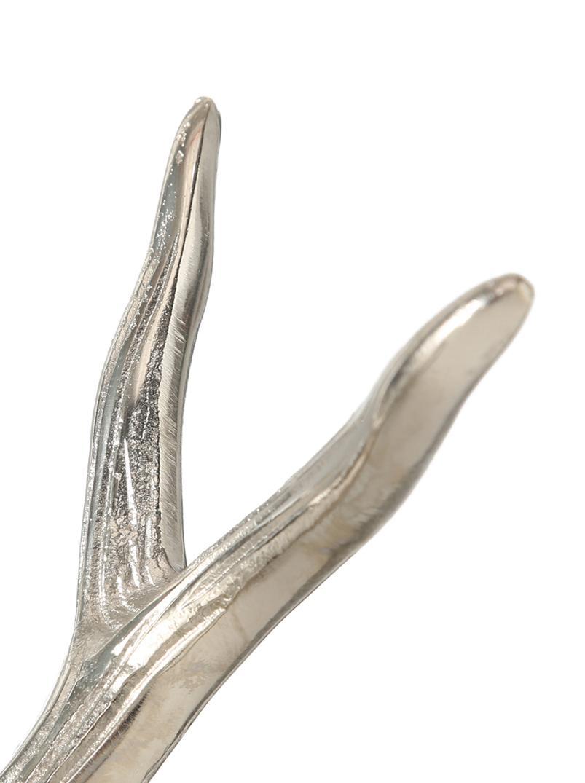 Świecznik Antlers, 2szt., Transparentny, aluminium, S 33 x W 25 cm