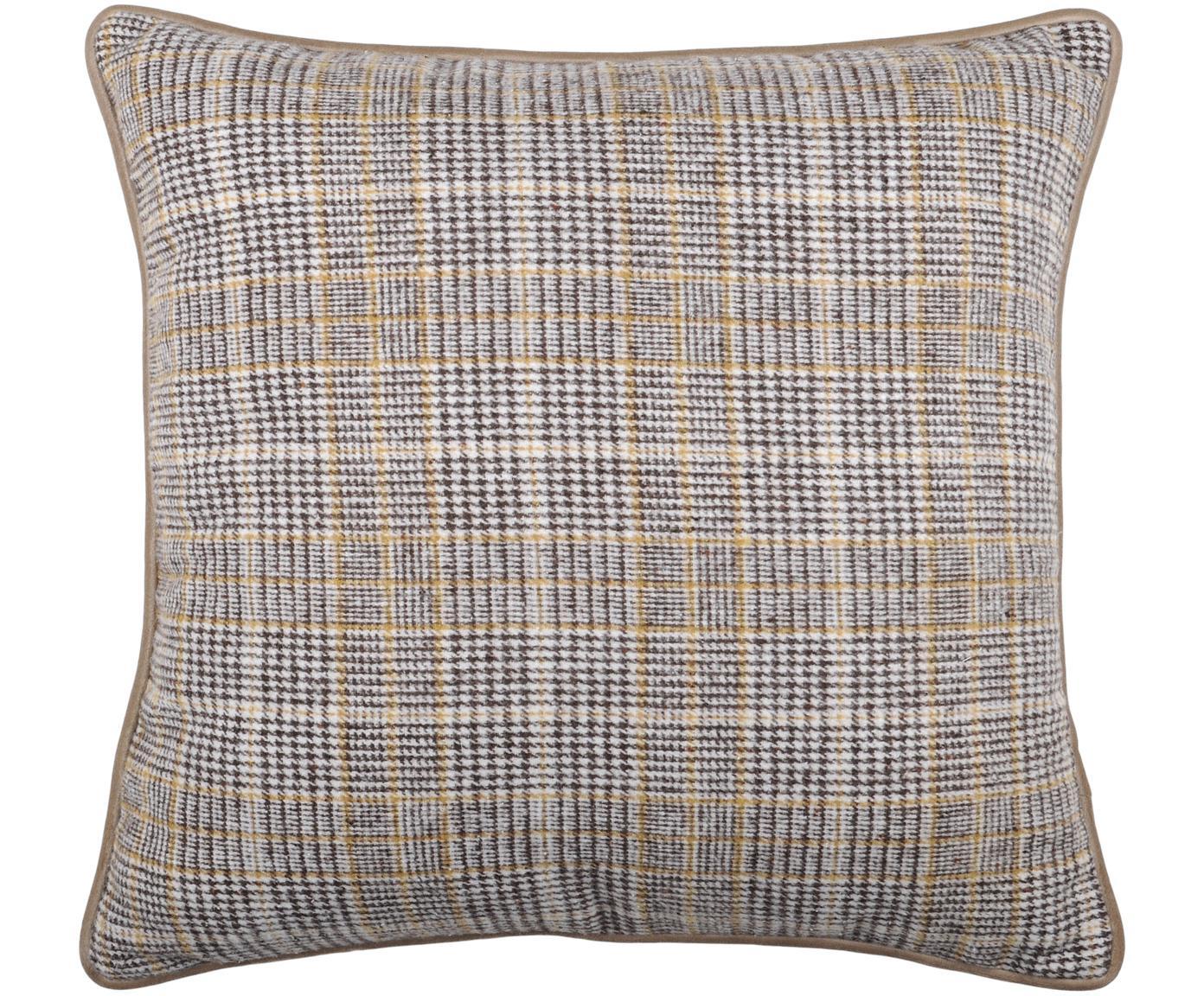 Poduszka z wypełnieniem Arnolda, 100% poliester, Beżowy, szary, biały, S 45 x D 45 cm