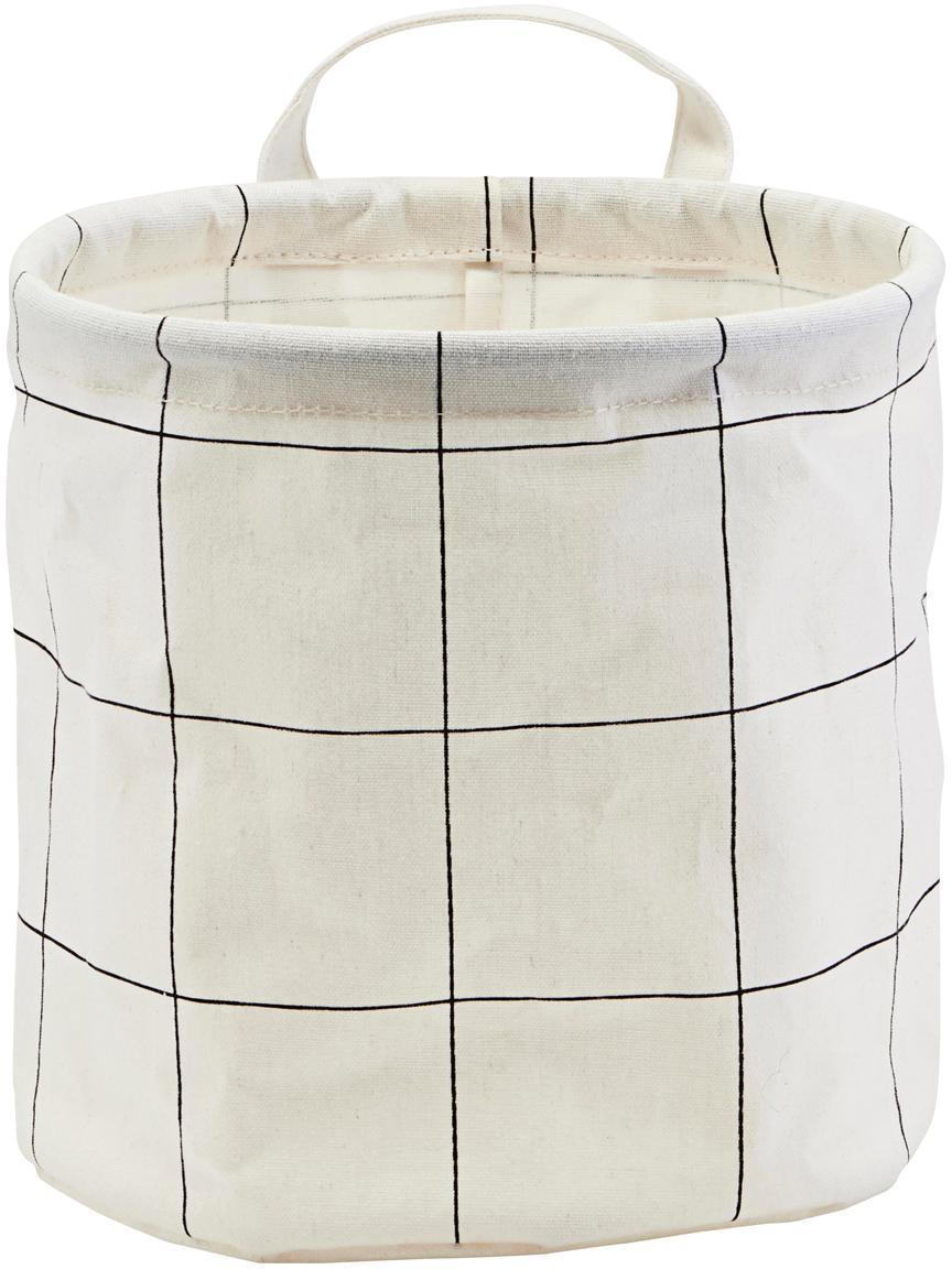 Cesta Squares, 38%algodón, 40%poliéster, 22%rayón, Blanco, negro, Ø 20 x Al 20 cm