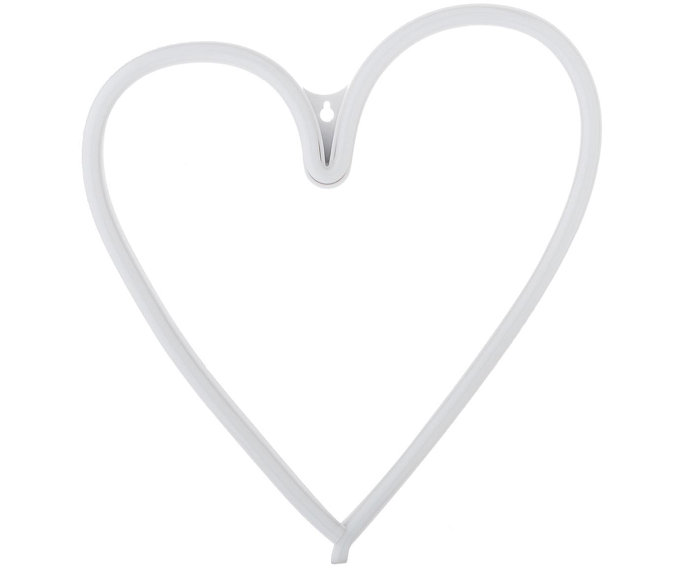 LED wandlamp Heart, Lamp: BPA-vrij PVC, Lichtkleur: geel. Wanneer uitgeschakeld, wordt het LED lampje wit, 30 x 29 cm