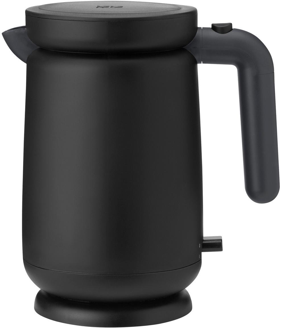 Waterkoker Foodie, Kunststof, edelstaal, Zwart, 1 L
