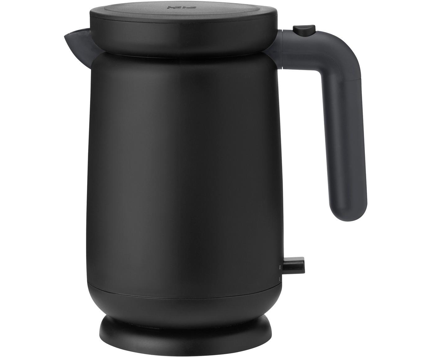 Wasserkocher Foodie, Kunststoff, Edelstahl, Schwarz, 1 L