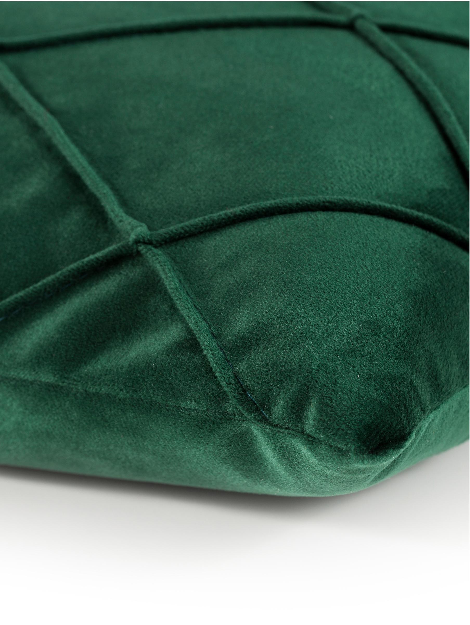 Sametový povlak na polštář s plastickým vzorem Nobless, Zelená