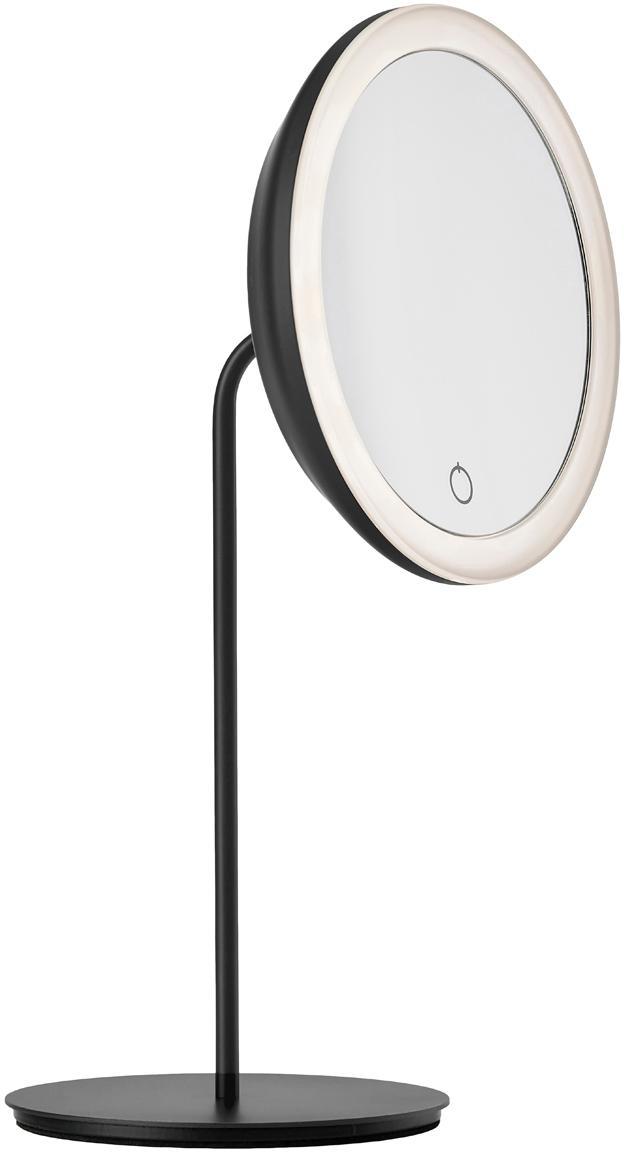 Specchio cosmetico con ingrandimento Maguna, Metallo, Nero, Larg. 18 x Alt. 34 cm