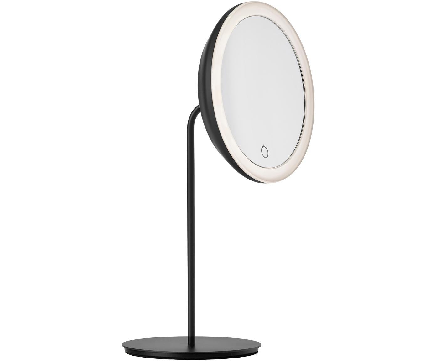 Espejo tocador Maguna, con aumento, Metal, Negro, An 18 x Al 34 cm