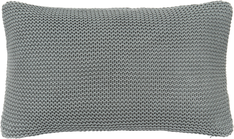 Federa arredo fatta a maglia verde salvia Adalyn, 100% cotone, Verde, Larg. 30 x Lung. 50 cm
