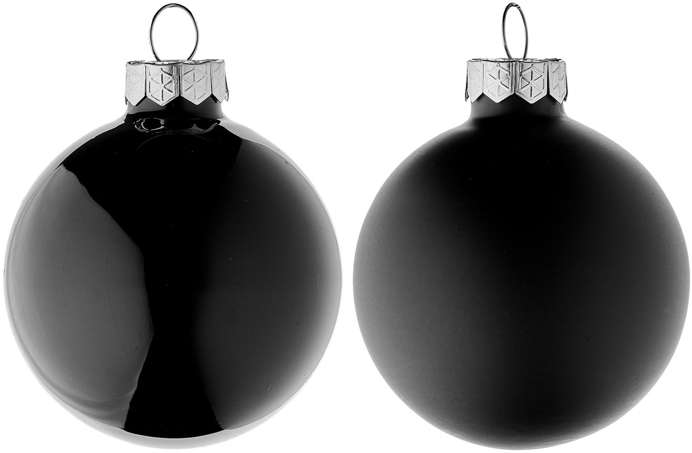 Set de bolas de Navidad Evergreen, Ø6cm, 10pzas., Negro, Ø 6 cm