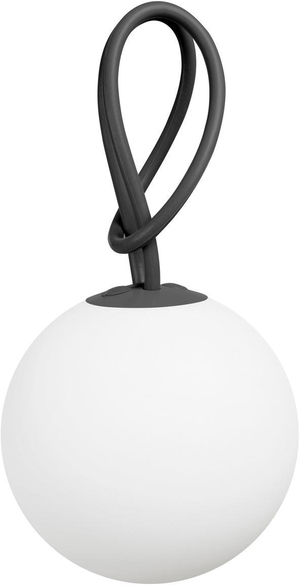 Mobile LED Außenleuchte Bolleke, Weiß, Anthrazit, Ø 20 x H 20 cm