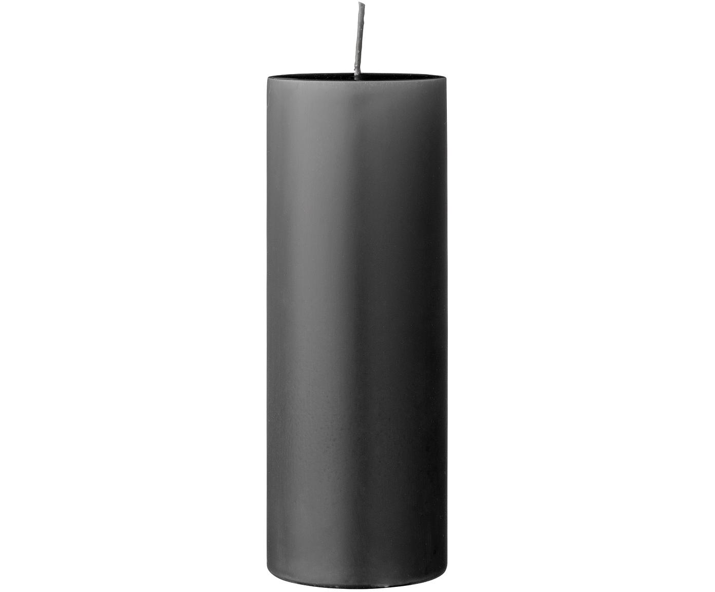 Stumpenkerze Lulu, Wachs, Grau, Ø 7 x H 20 cm