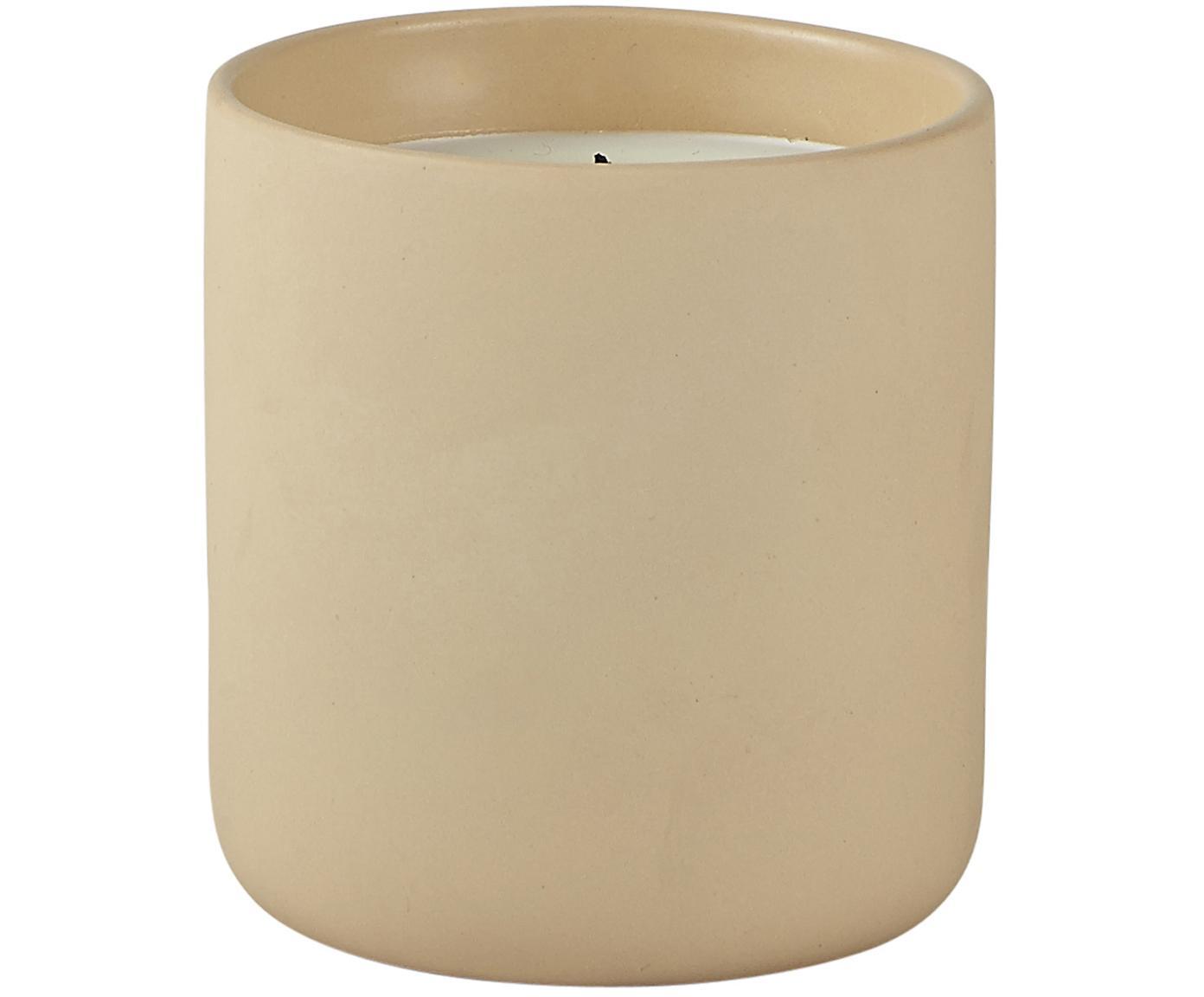 Duftkerze Water of Life, Behälter: Keramik, Sandfarben, Ø 8 x H 10 cm