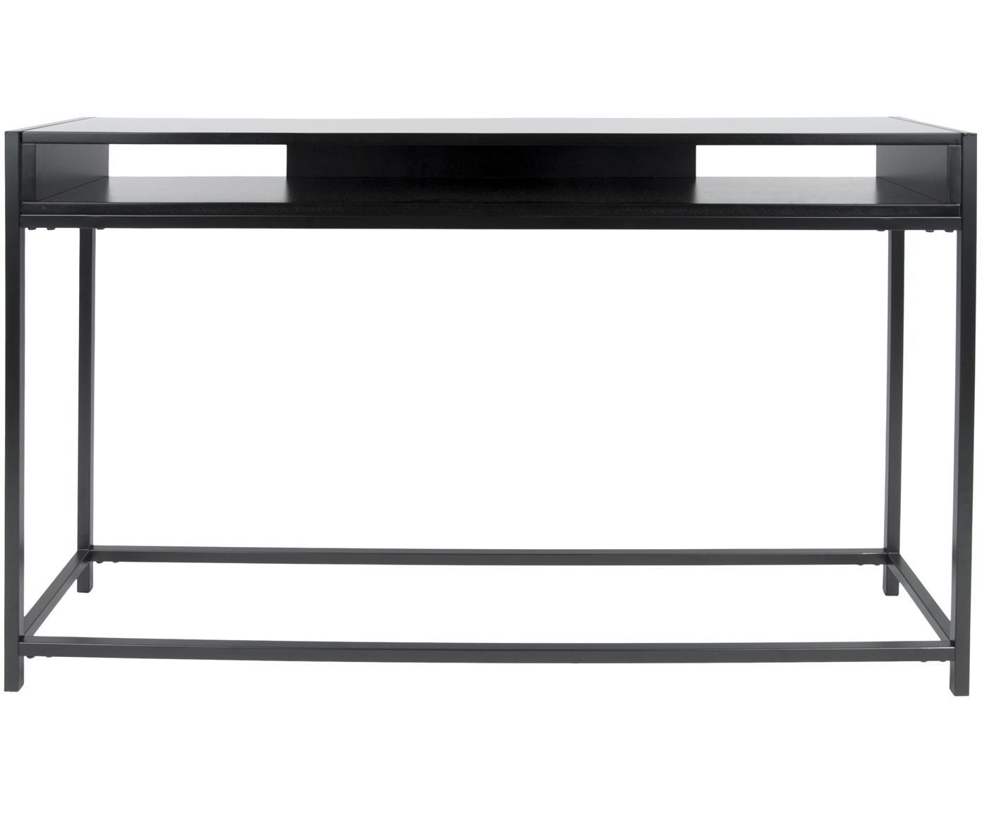 Consola Fushion, Estructura: metal, pintura en polvo, Estante: tablero de fibras de dens, Negro, An 122 x Al 81 cm