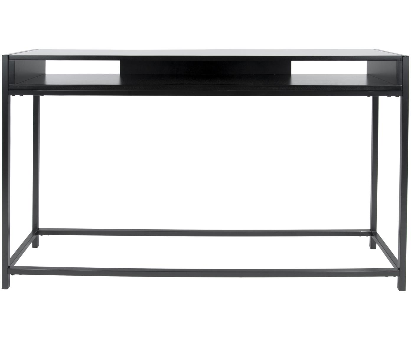 Konsola z miejscem do przechowywania Fushion, Stelaż: metal malowany proszkowo, Czarny, S 122 x W 81 cm