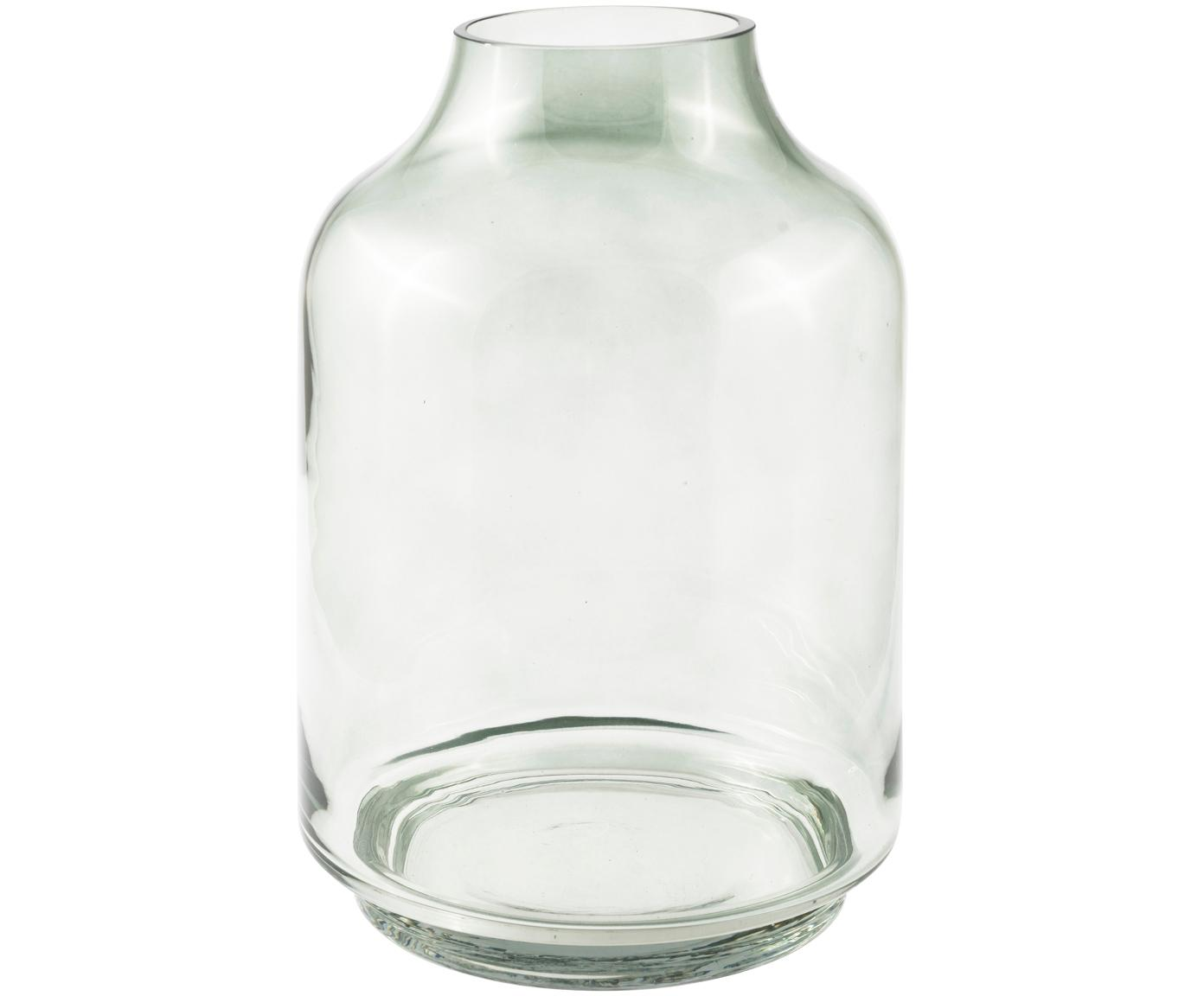 Glas-Vase Vibeke, Glas, Unten: Transparent mit FarbverlaufOben: Grün, transparent, Ø 17 x H 26 cm
