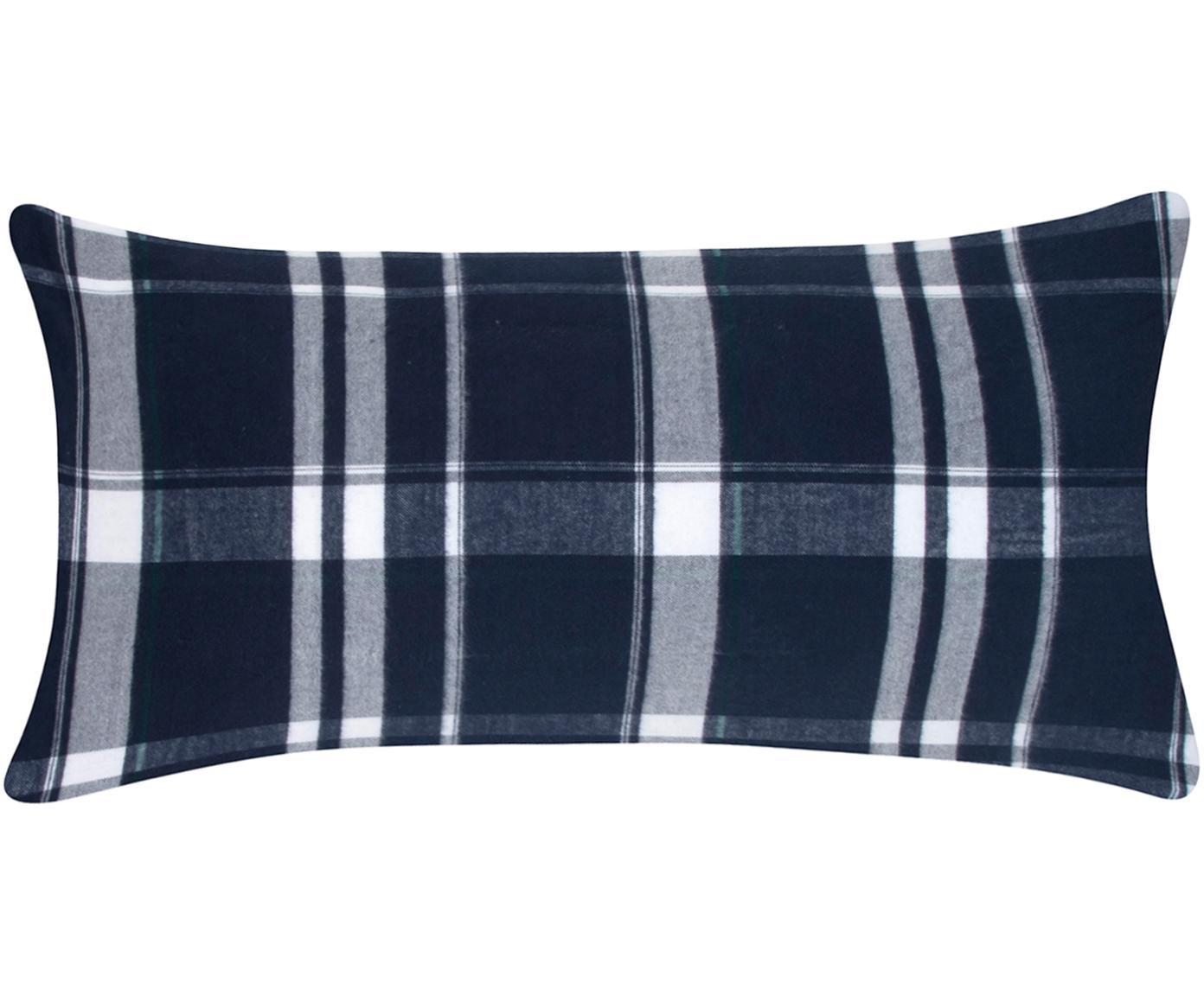 Flanell-Kissenbezüge Rolf, kariert, 2 Stück, Webart: Flanell Flanell ist ein s, Blau, 40 x 80 cm