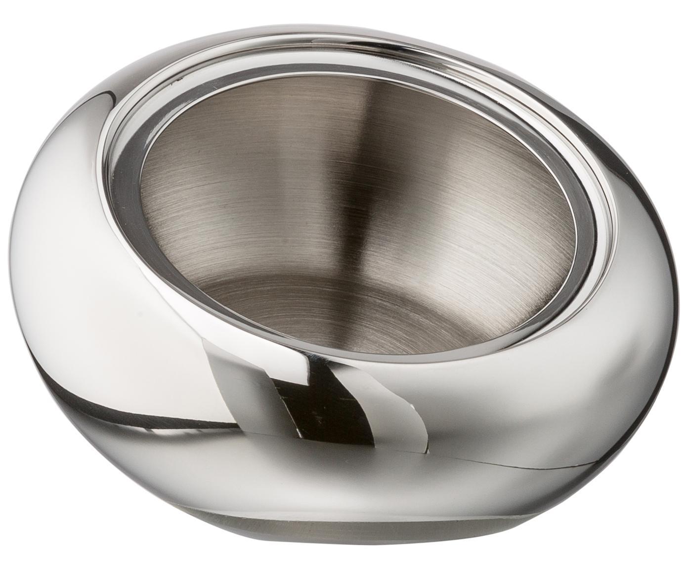 Aufbewahrungsdose Onion, Dose: Edelstahl, hochglanzpolie, Deckel: Eiche, Dose: Edelstahl, glänzend<br>Deckel: Eiche, Ø 12 x H 11 cm