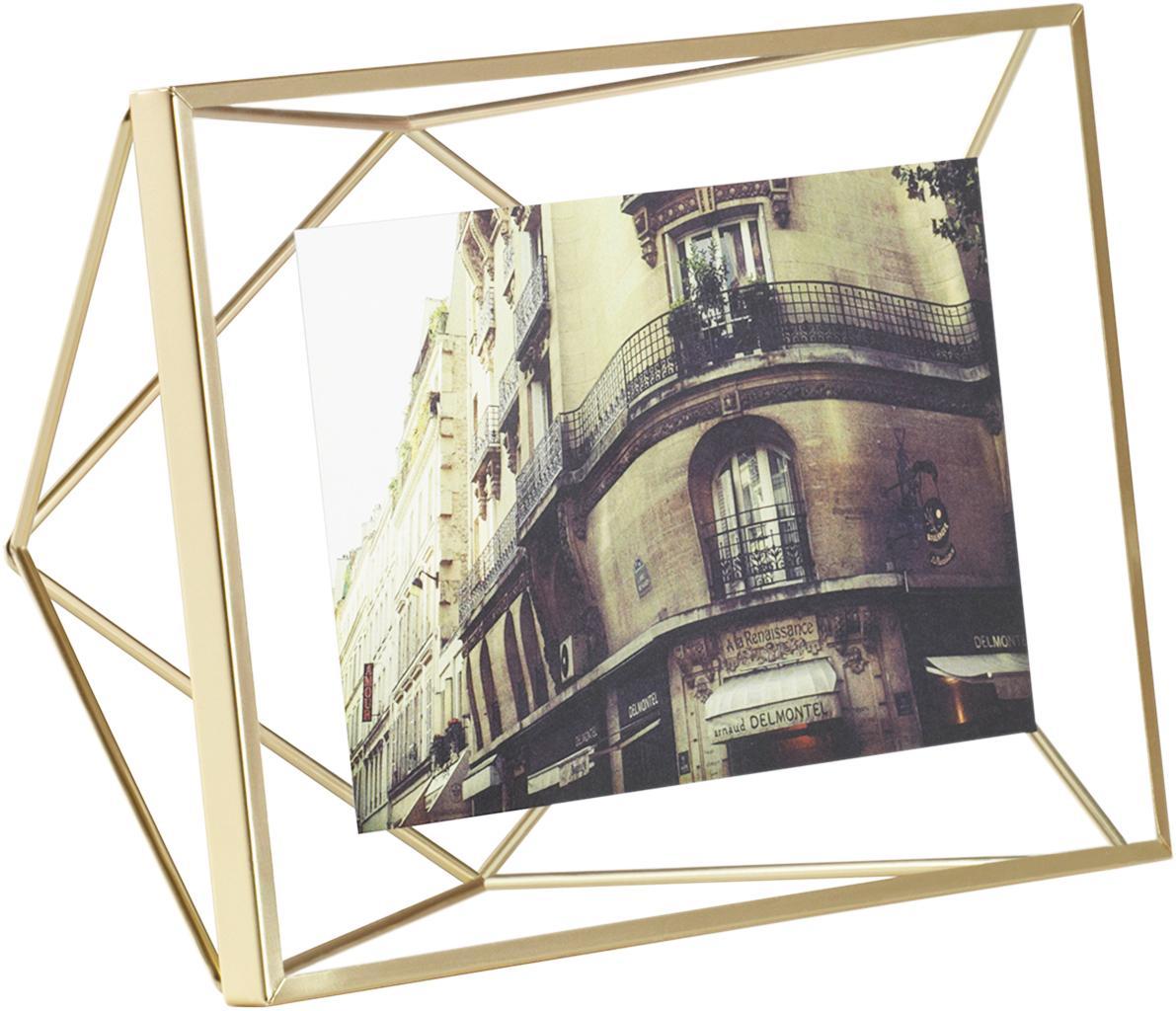 Cornice Prisma, Cornice: acciaio, Ottone, 10 x 15 cm