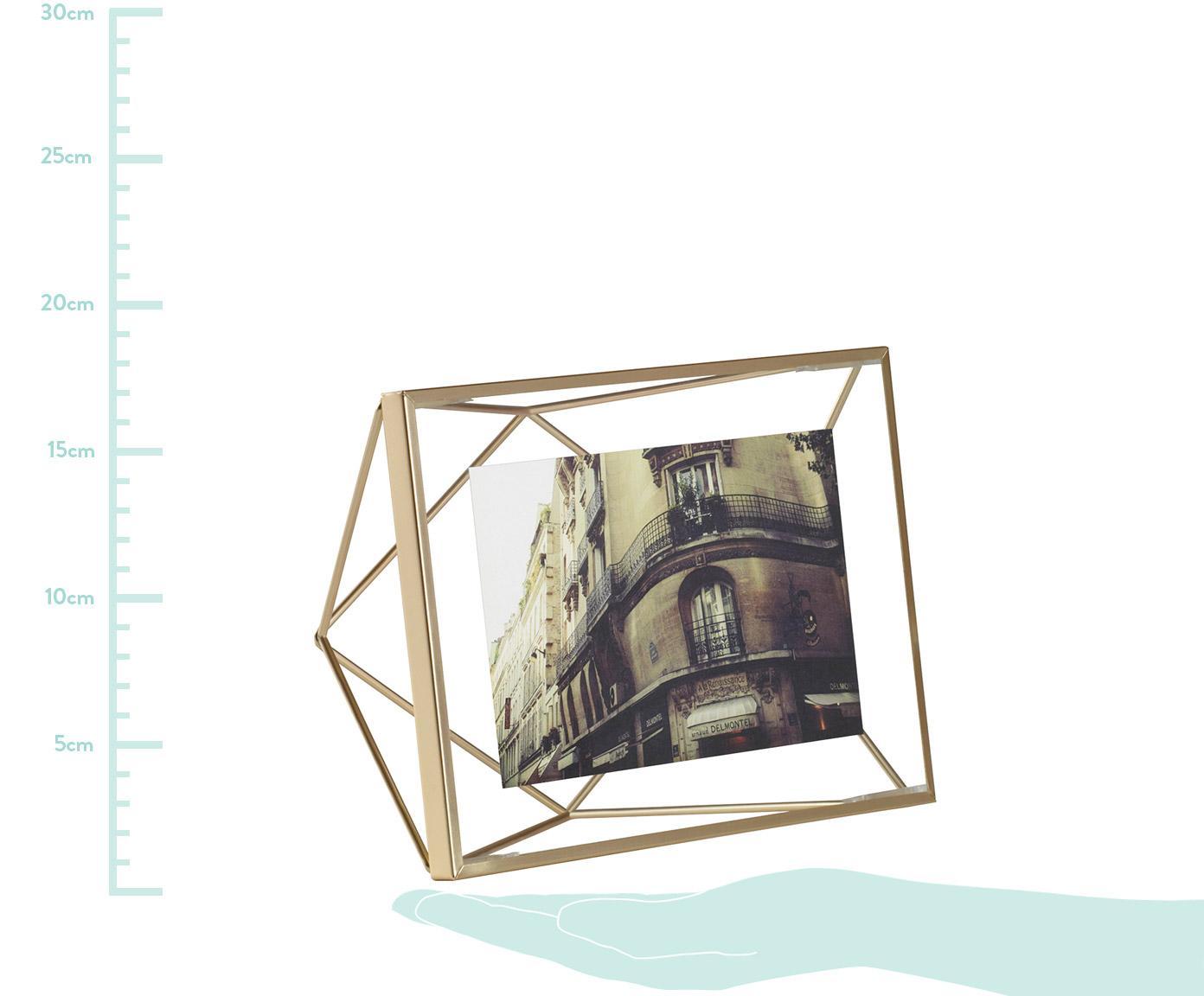 Ramka na zdjęcia Prisma, Odcienie mosiądzu, 10 x 15 cm