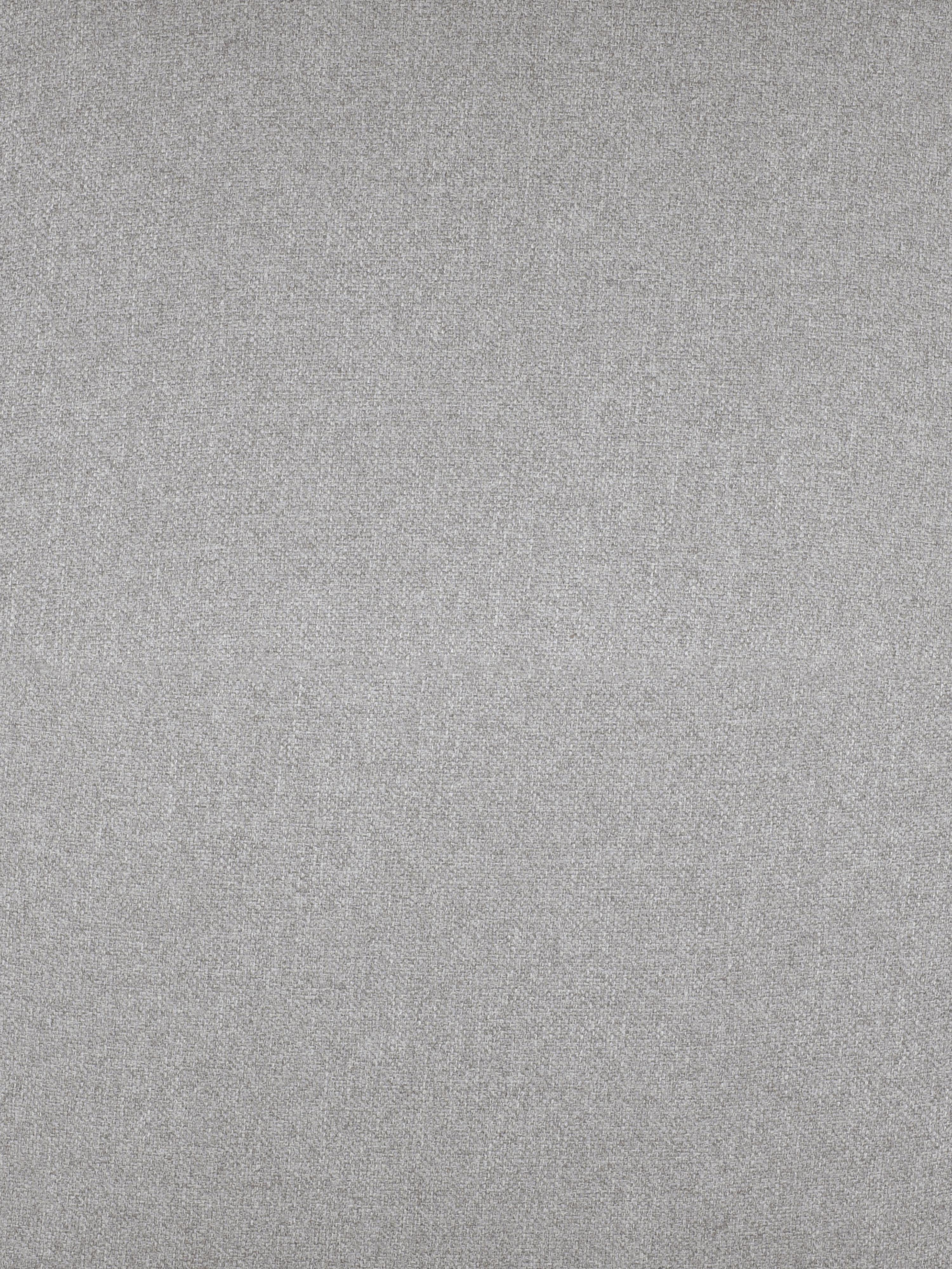 Divano angolare in tessuto grigio chiaro Fluente, Rivestimento: 80% poliestere, 20% Ramie, Struttura: legno di pino massiccio, Piedini: metallo, verniciato a pol, Tessuto grigio chiaro, Larg. 221 x Prof. 200 cm