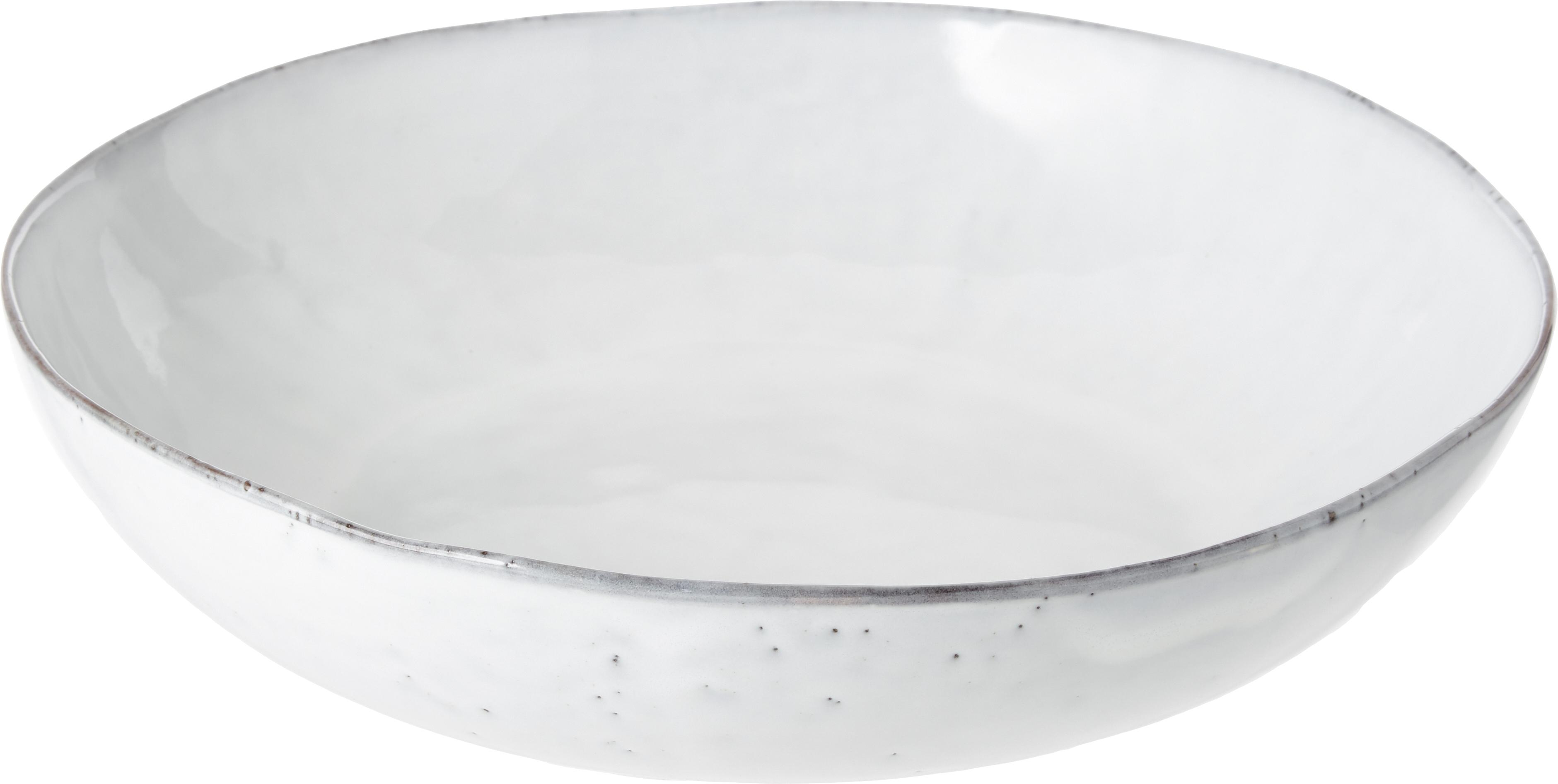 Ręcznie wykonana miska z kamionki Nordic Sand, Kamionka, Piaskowy, Ø 34 x W 8 cm